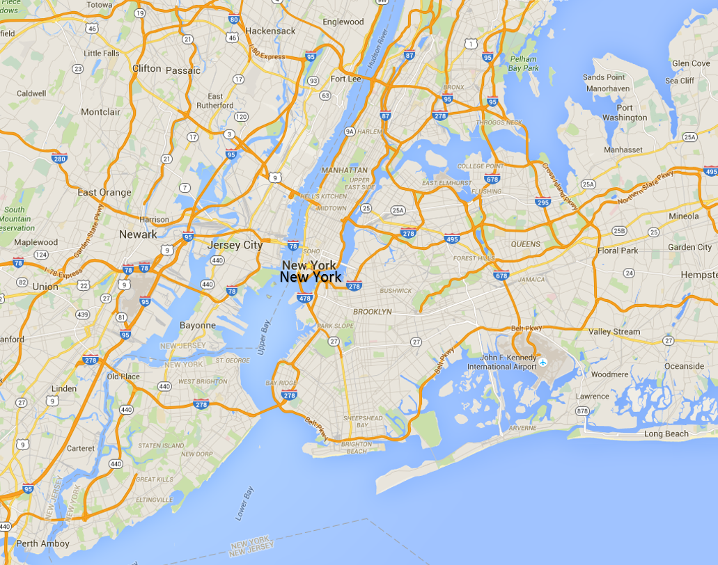 The Secret A Treasure Hunt  Maps - New york map location